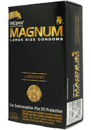 Trojan Condom Magnum Large Size Lubricated 12 Pack