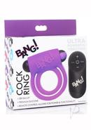 Bang! Silicone Rechargeable Cock Ring And Bullet With...